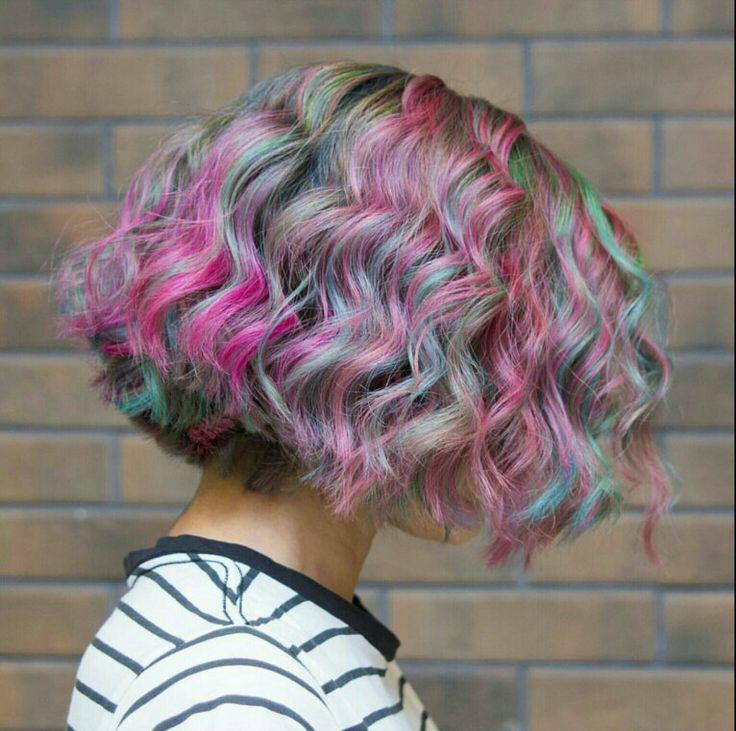 My rainbow haircolor
