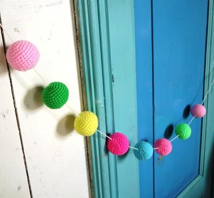 Gehaakte ballen om een slinger mee te maken | 2Cute2BeTrue