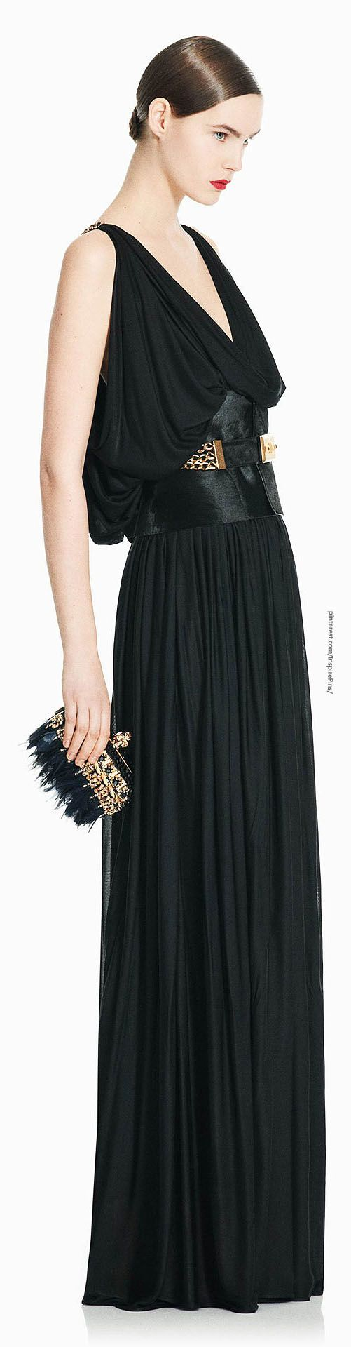 Alexander McQueen...love the draping and the bag. ♡
