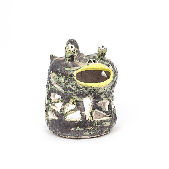 Candle lantern Handmade pottery lantern. Ceramic candlestick