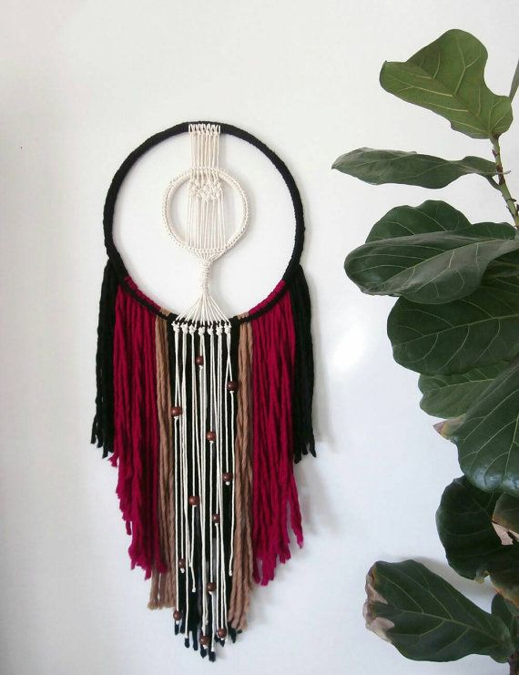 Macrame fiber art, Large macrame wall hanging, Bohemian Decor,  Wall tapestry…