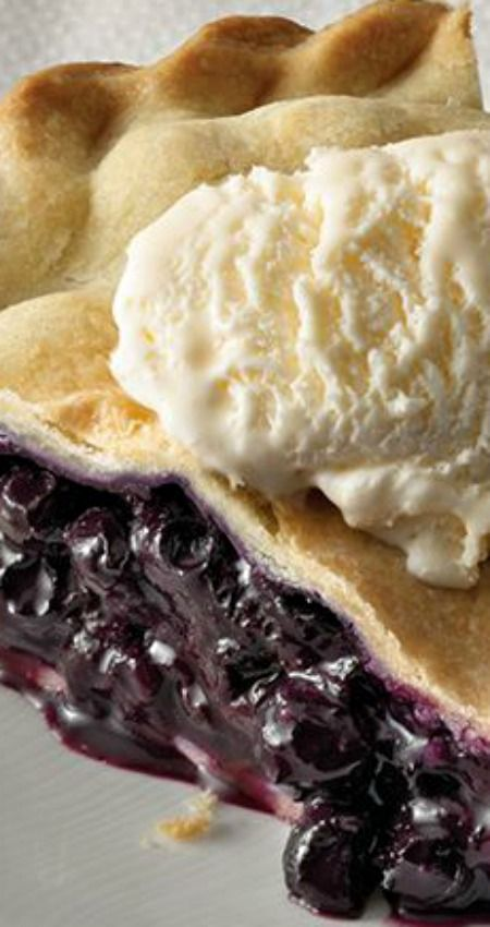 "Best Ever Blueberry Pie ~ It's a classic recipe, featuring blueberries, hints of ground cinnamon and nutmeg... The ""best ever."""