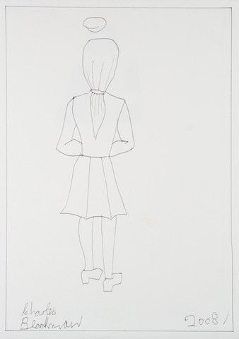 Charles Blackman 'Alice with Halo' – Angela Tandori Fine Art