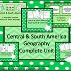 Students will learn the physical, political, and cultural features of Central & South America with this COMPLETE UNIT. They will evaluate the similarities and differences within each nation and each region. They will discuss the influence of the region on the rest of the world, and the interdependence with the global community. In conclusion of the unit, they will address the challenges for the region and its future.