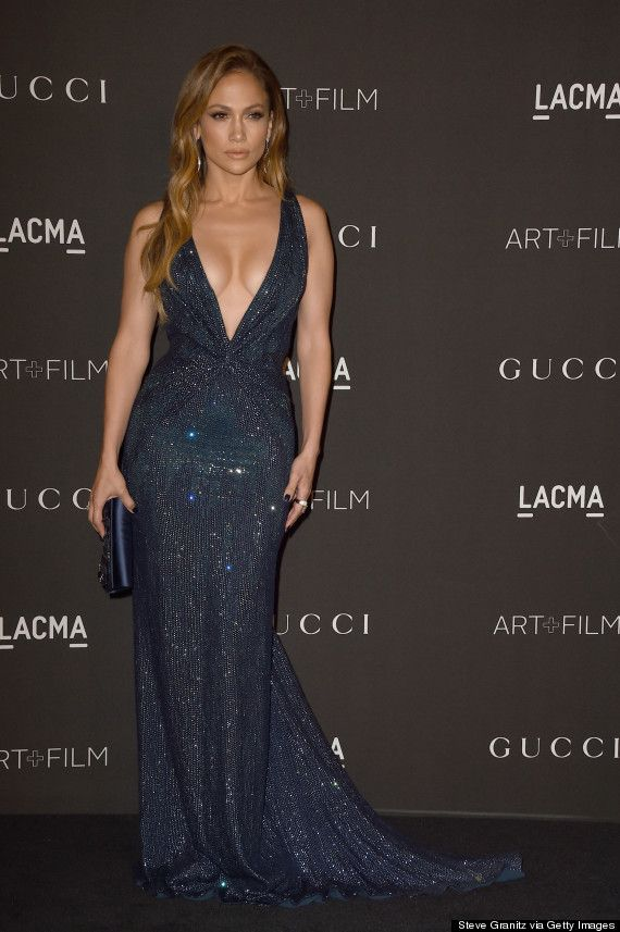 J Lo Shines In A Low Cut Sequin Gown Style Beauty Icons