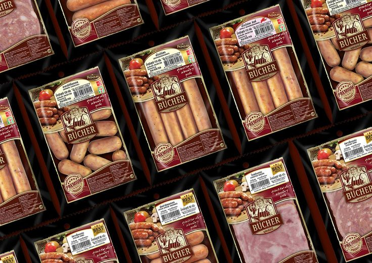 BUCHER PREMIUM SAUSAGE BRAND...!!! Task - New brand identity and packaging design that highlights the BUCHER's premium and german quality. Scope - Brand identity, graphic & packaging design.  BUCHER Premium Sausage, packaging designed by Prompt Design.