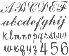 tipos de letras manuscritas - Buscar con Google