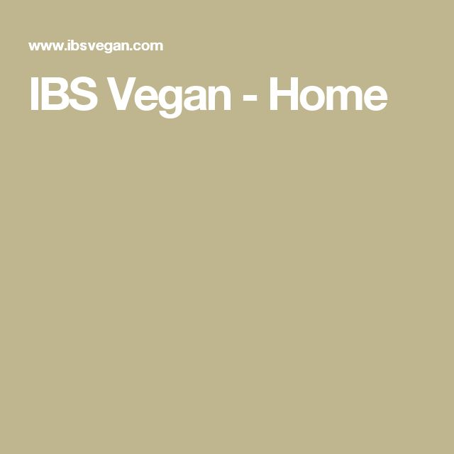 IBS Vegan - Home