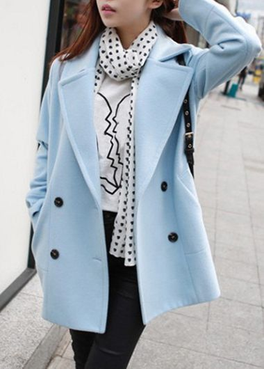 Button Closure Grey Long Sleeve Swing Coat  on sale only US$38.33 now, buy cheap Button Closure Grey Long Sleeve Swing Coat  at lulugal.com