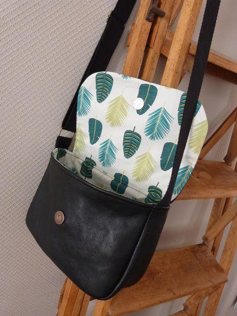 Voilà un sac que je voulais coudre depuis bien longtemps mais je tenais absolument à le faire dans du cuir. J'attendais donc de trouver un… – Stephanie Unger