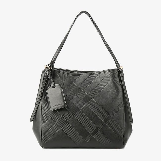 Burberry Handbag Black Embossed Lady Bags Png Image