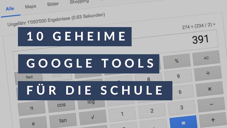 Wussten Sie, dass die Google Suchmaschine eine grosse Werkzeugkiste ist, welche sich auch für die Schule nutzen lässt? Fortan benötigen Sie für kleine Arbeiten keine weiteren Programme oder Geräte mehr, bloss die Google-Suchmaske.