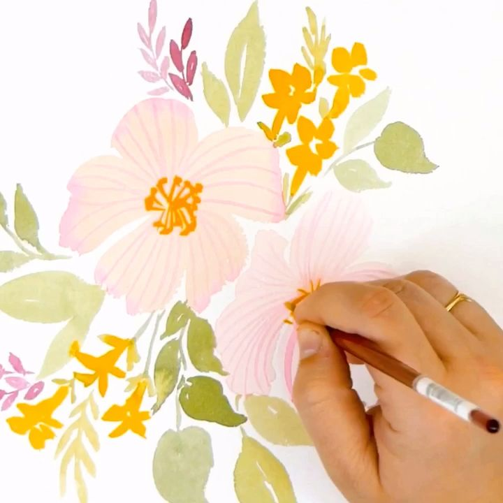 Learn to paint #Watercolor Flowers with these FREE tutorials