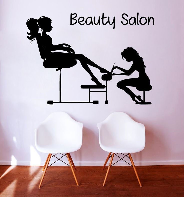 Pedicure Wall Decals Fashion Girl Nails Manicure Cosmetics Women Beauty Salon Decor Vinyl Decal Sticker Home Interior Design Art Mural KG837 by WallDecalswithLove on Etsy