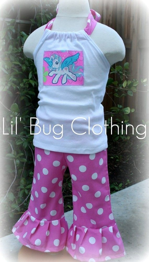 Custom Boutique Clothing Girls My Little Pony Pant and Halter Birthday on  Etsy 57d8eefd8