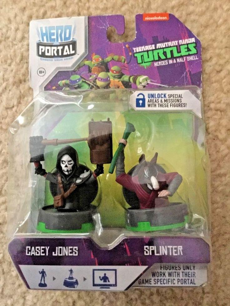 Teenage Mutant Ninja Turtles Casey Jones & Splinter Plug & Play Figures JAKKS