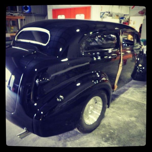 1939 Chev in the final stages of restoration