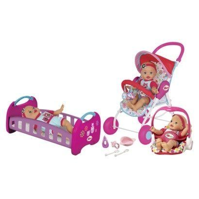 Fisher Price Little Mommy Baby So New Home Amp Away Set By