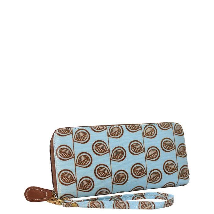 Blou en Bruin Beursie/ Blue and Brown wallet