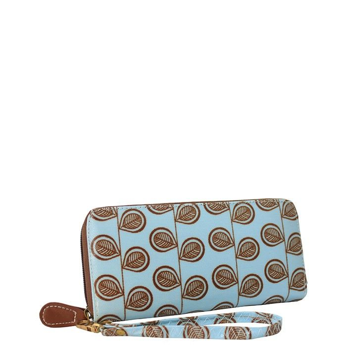 Blou en Bruin Beursie/ Blue and Brown wallet