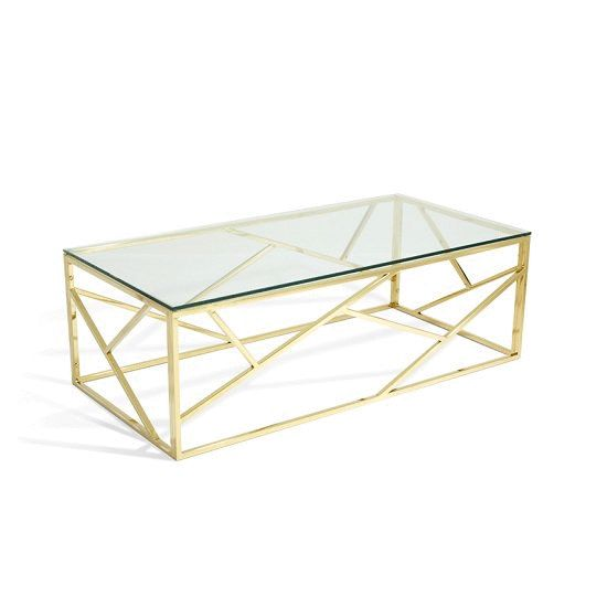 Copper & Gold with Glass Coffee Tables #furnitureinfashion