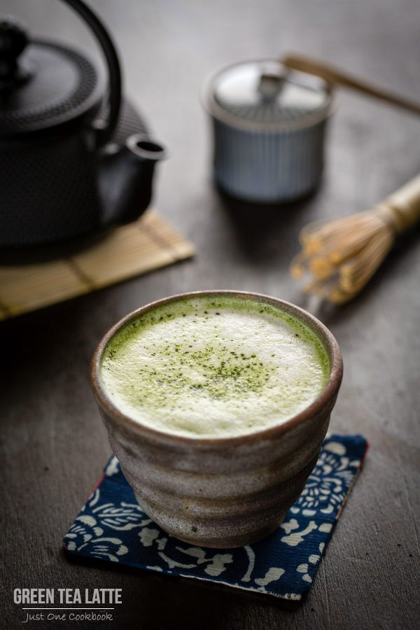 """My absolute favorite Green Tea Latte ...better than Starbucks! Easy Japanese Recipes at JustOneCookbook.com"""