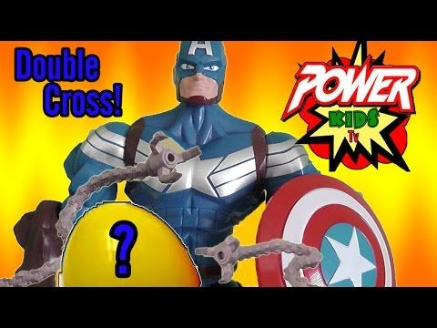 Captain America Surprise Egg Double Cross! - YouTube