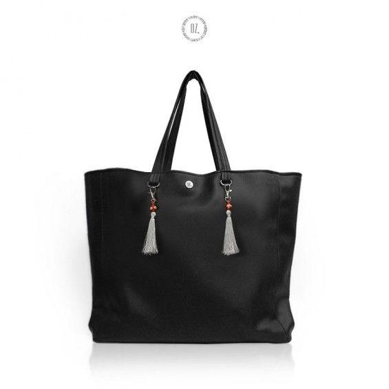 Torba XL BLACK Mumbai - torba miejska shopper - Bags of OZ -