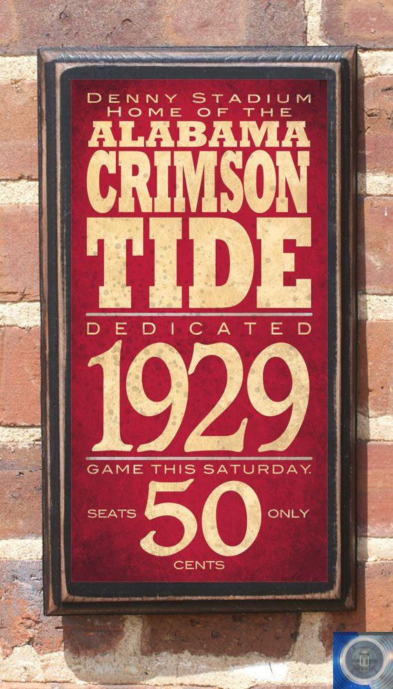 Alabama crimson tide football wall art sign plaque gift for Alabama football wall mural