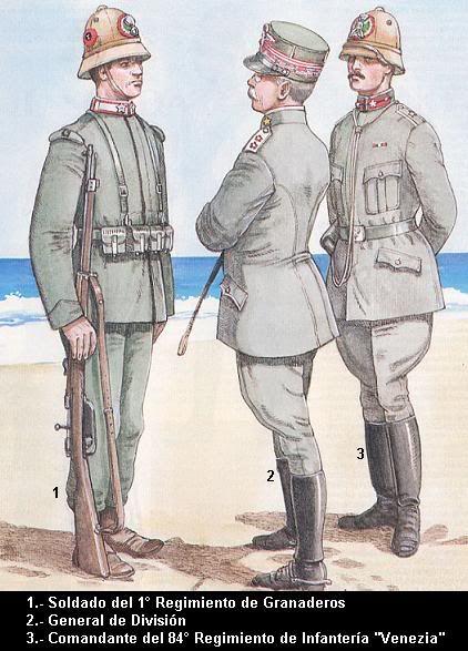 Italy; Italo-Turkish War 1911-1`2. Soldier, 1st Regiment of Granaderos. General of Division & Commander 84th Infantry Regiment 'Venezia'