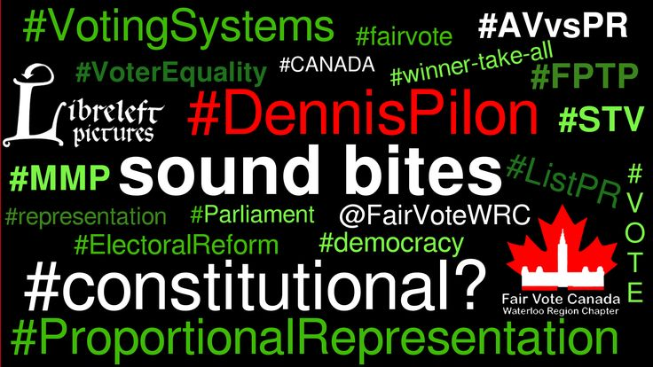 This is the eighth in the Whoa!Canada: Proportional Representation Series