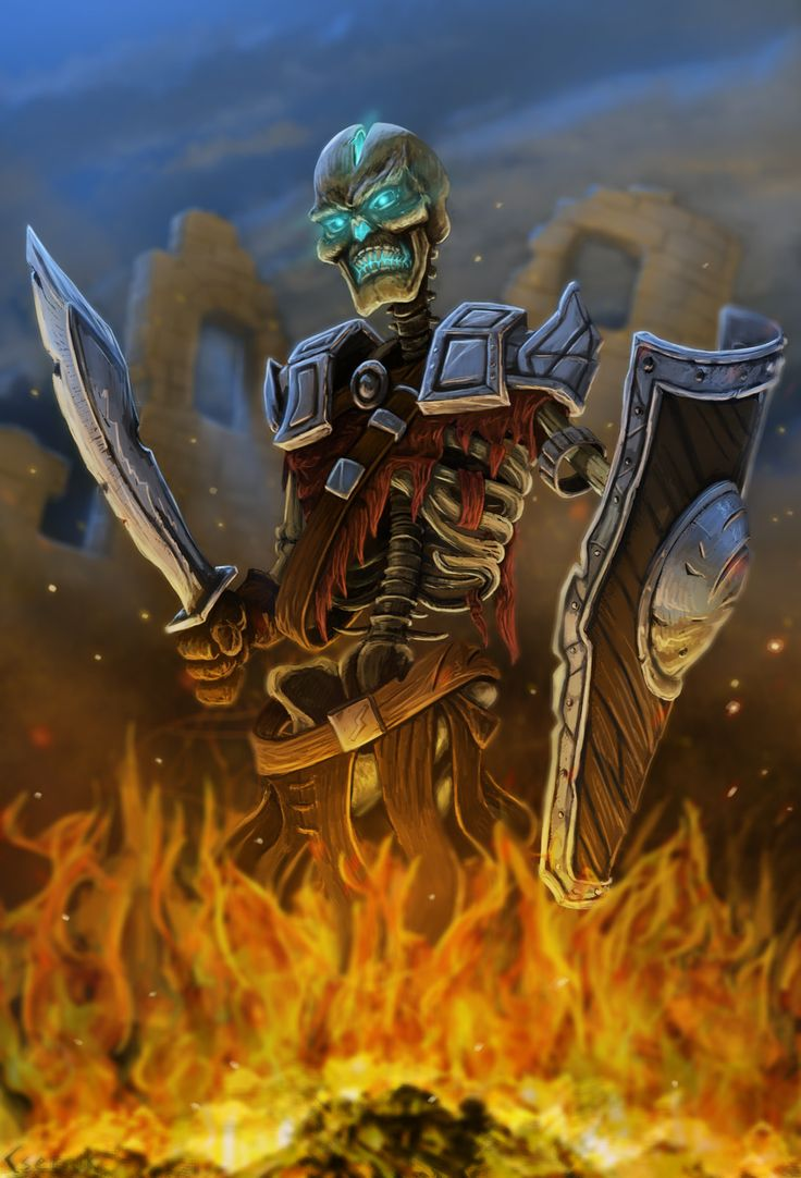 Skeleton Warrior, Janos Csernik on ArtStation at https://www.artstation.com/artwork/41PAL