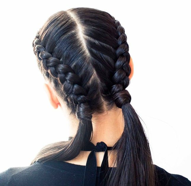 How pretty are these half-done double Dutch braids?
