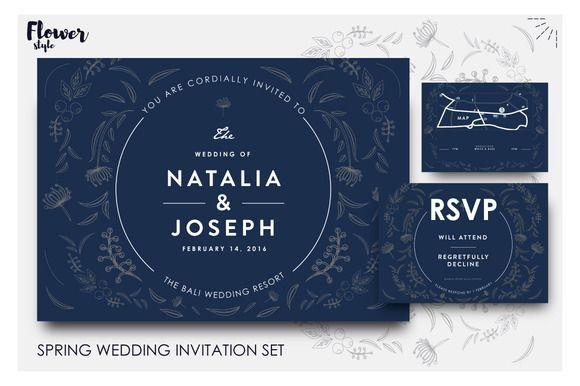 Beautifully illustrated wedd invites ~ Invitation Templates on Creative Market