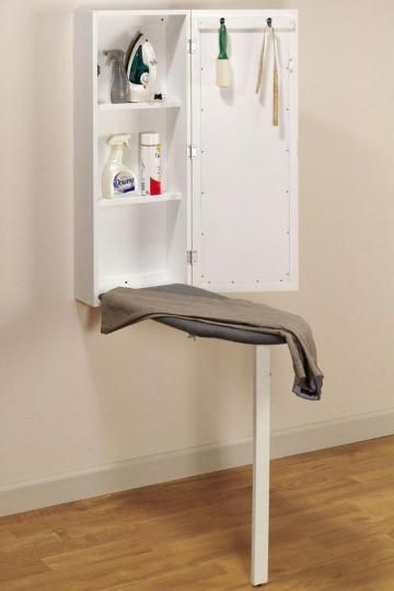 wall mounted ironing board | Wall-Mounted Ironing Station - General Organization - Storage And ...