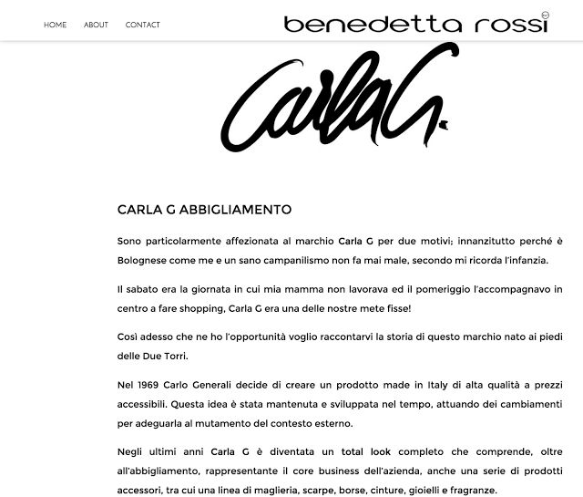 In her aggressive shoes:   http://www.benedettarossi.it/carla-g/