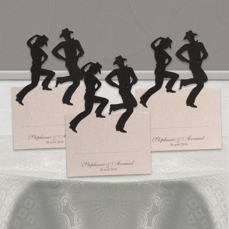 Marque-place Mariage Danse Country - motsetpapiers.com