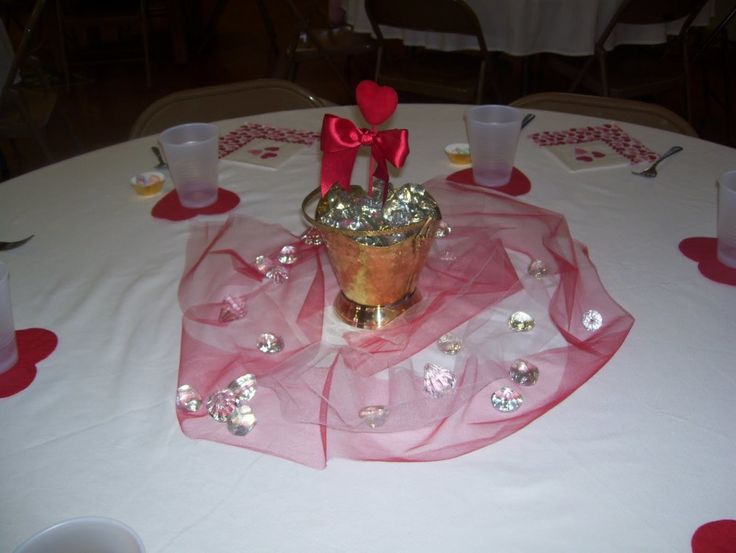 Dining Room, Romantic Dining Table Valentine Decoration Design Ideas With Beautiful Centrepiece And Pink Ribbon Fabric: Interesting Romantic Moment At Dining Tables for Excellent Valentine Day