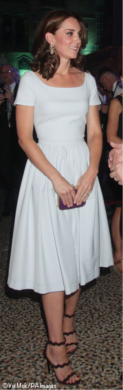 The Duchess was pretty in the pale blue Preen by Thornton Bregazzi Everly Dress.