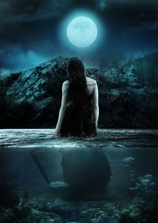 Beautiful Sad Alone Girl Wallpaper Moon Girl By 0 Maryo 0 Deviantart Com On Deviantart