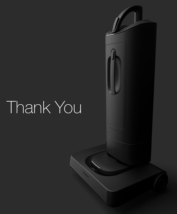 vacuum cleaner concept on industrial design served product