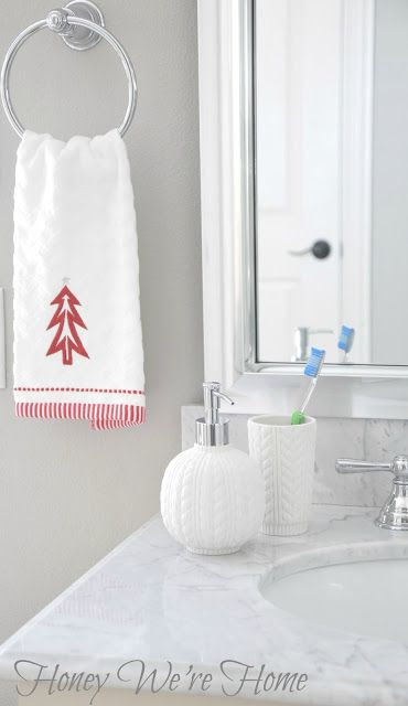 Best Christmas In The Bathroom Images On Pinterest Christmas - Christmas bath towels for small bathroom ideas
