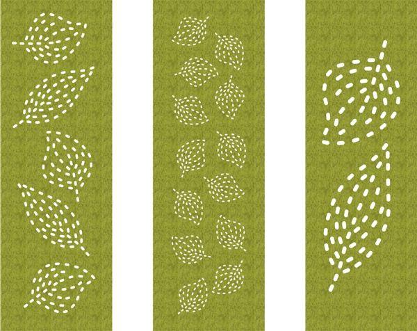 akoestisch paneelgordijn van vilt - akoestiek - cut out - model leaves