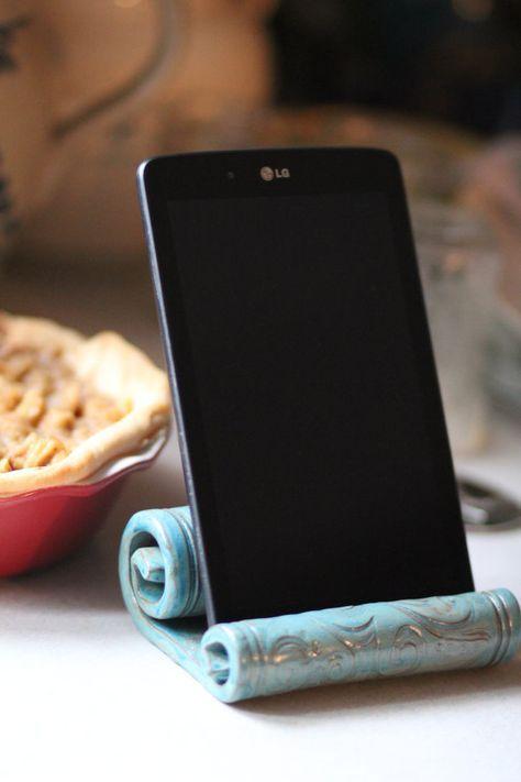 Ceramic IPad Holder/Stand/Kitchen/Tablet/Phone Holder
