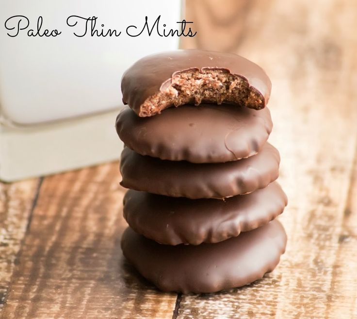 Paleo Thin Mint Style Cookies