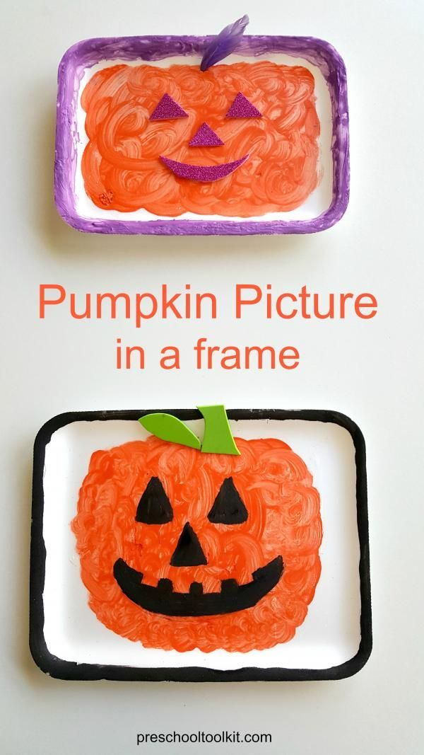 pumpkin painting in a frame fun activity for kids - Halloween Fun Activities For Kids