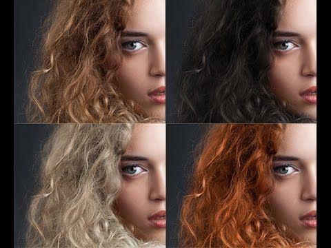 Как изменить цвет волос в фотошопе - YouTube