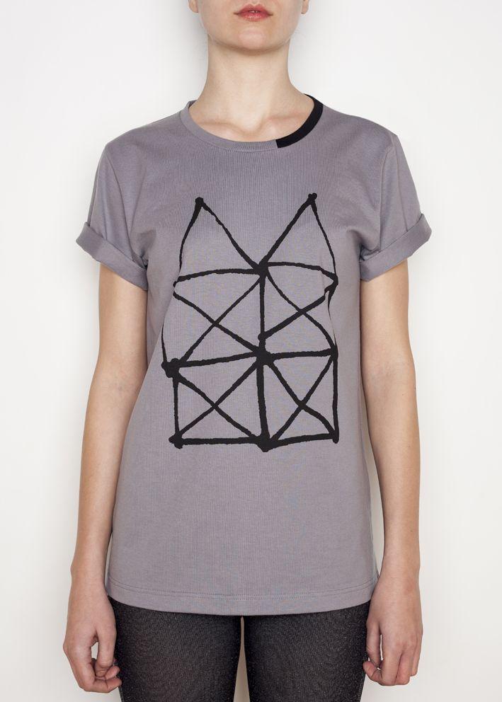 triko DŮM šedé