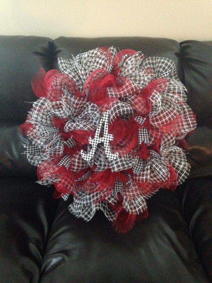 Alabama door wreath