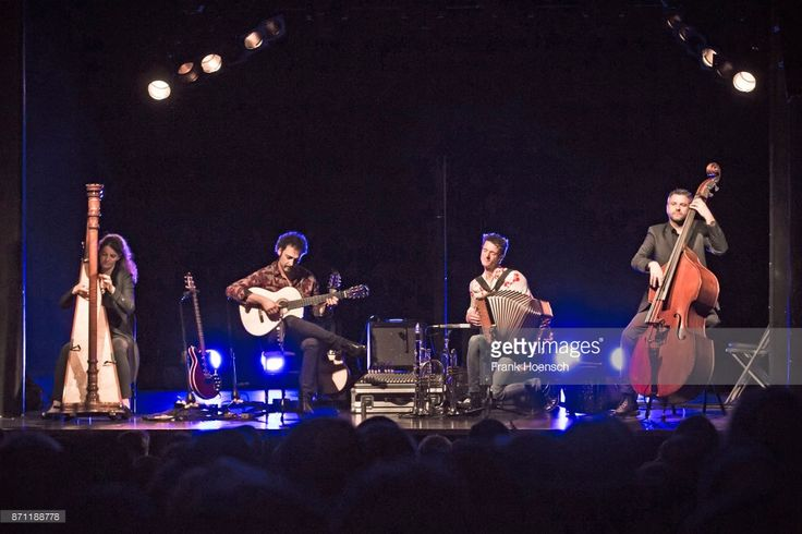 Heidi Pixner, Manuel Randi, Herbert Pixner and Werner Unterlercher of the Herbert Pixner Projekt perform live on stage during a concert at the Columbia Theater on November 5, 2017 in Berlin, Germany.
